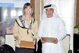 Ms Nicole Nassar Gulf Area Office Managng Director with Mr. Tayeb Alrayes AMAF Secretary General